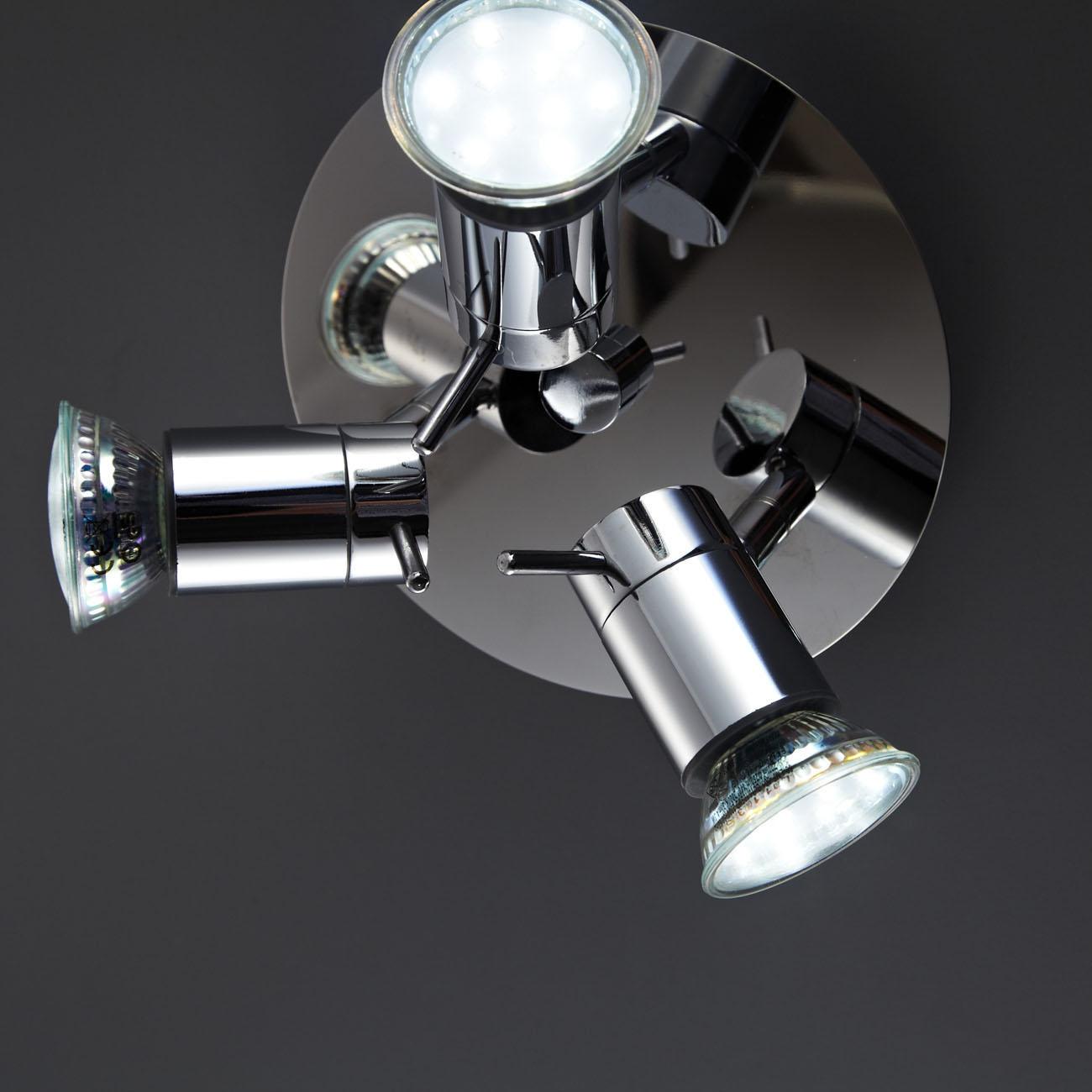 LED Deckenleuchte Badleuchte 3-flammig IPP44 glänzend - 4