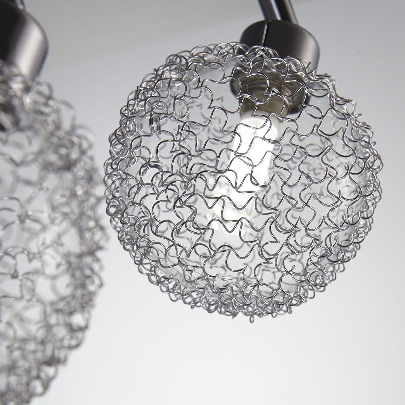 LED Design Deckenleuchte mit Glaskugeln 2-flammig - 6