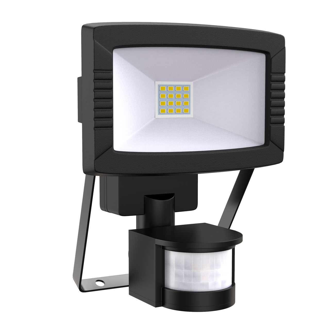 LED Außenstrahler mit Bewegungsmelder IP44 schwarz