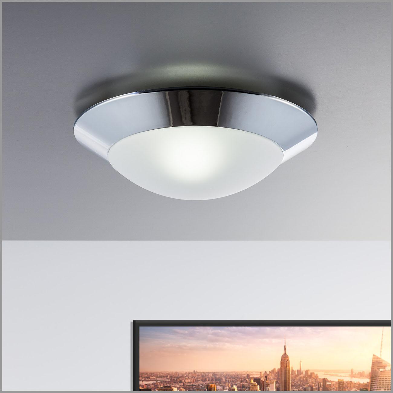 LED Deckenleuchte Badlampe mit Glaslampenschirm IP44
