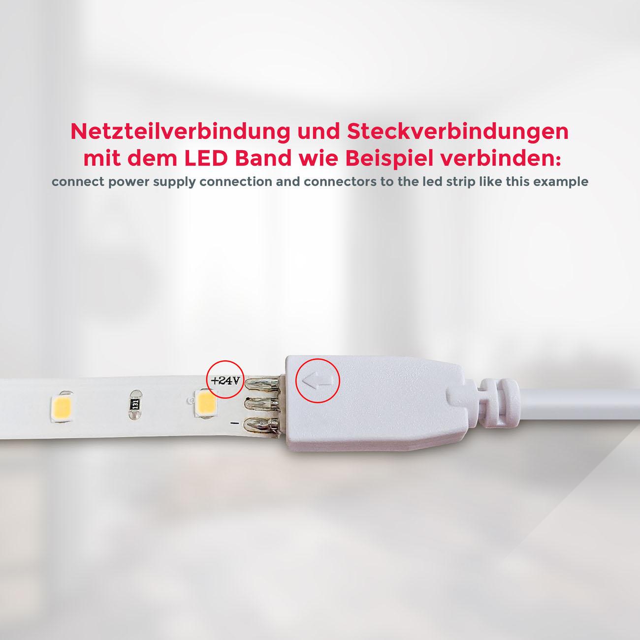 LED Lichtband weiß 2m | 4 Streifen - 6
