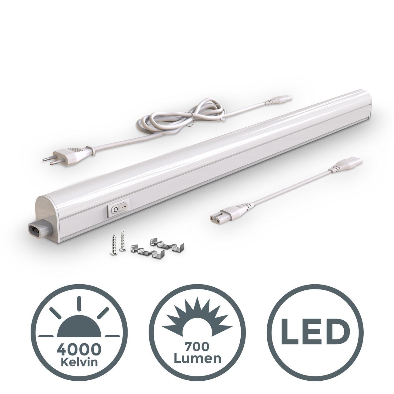 LED Unterbauleuchte mit Verbindungskabel weiß M - 3