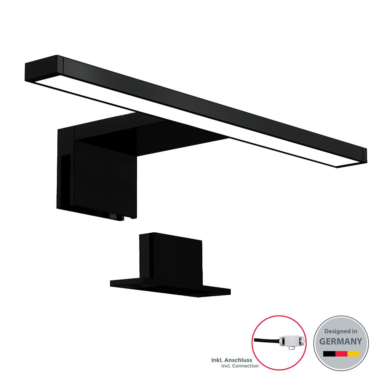 LED Spiegelleuchte Badlampe IP44 neutral-weiß S schwarz - 3