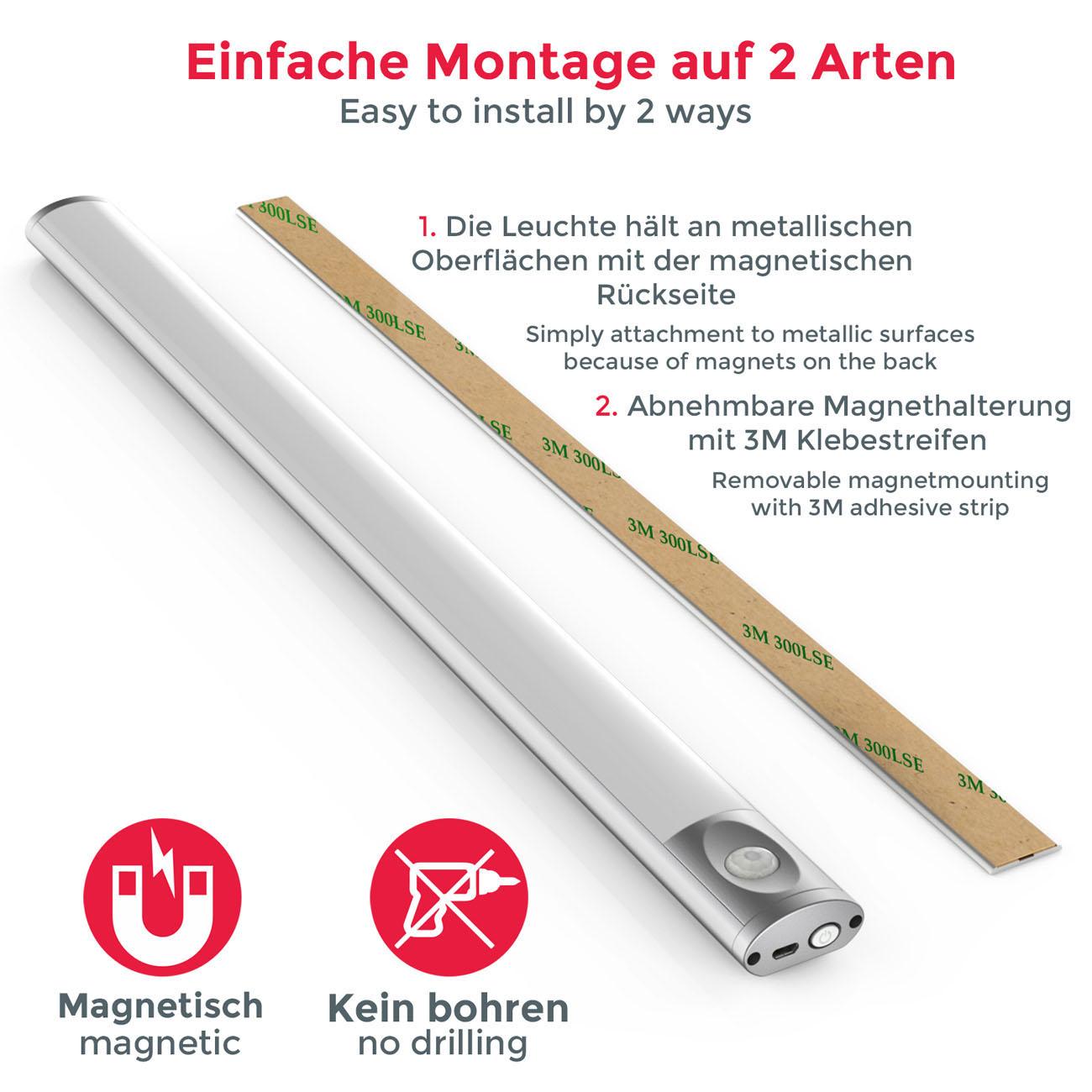 LED Unterbauleuchte mit Magnethalterung - 6