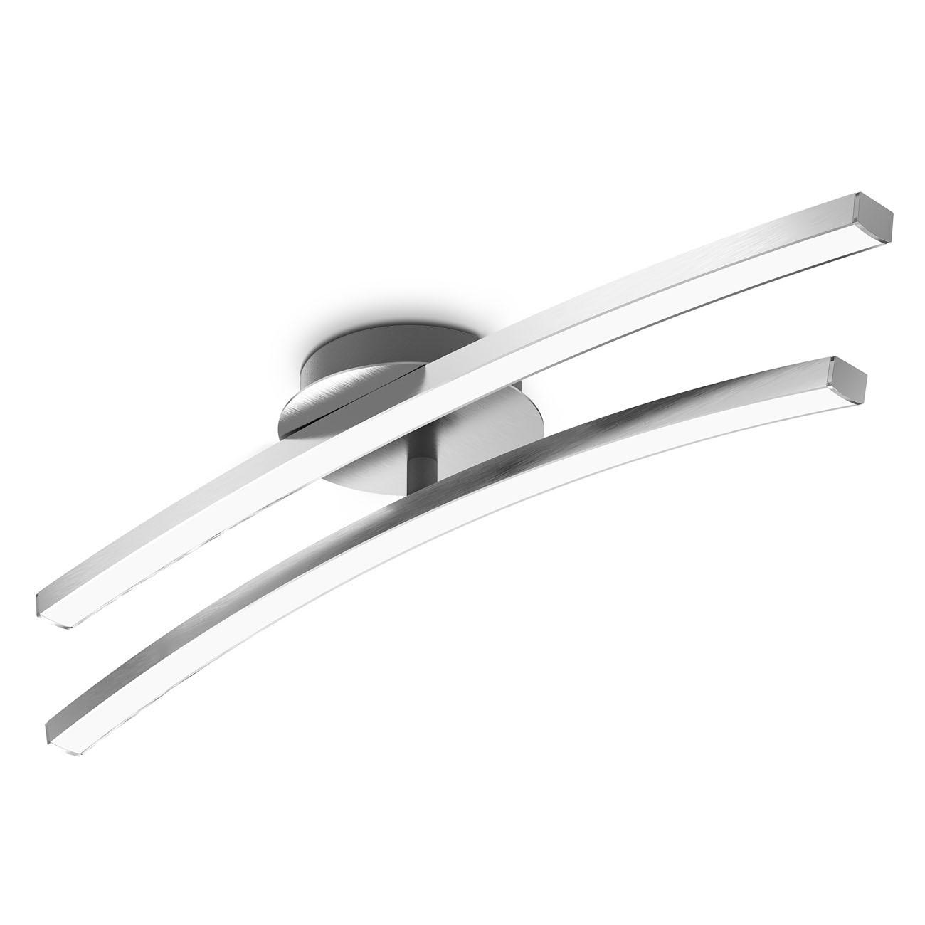 LED Deckenleuchte 2-flammig schwenkbare Leuchtmodule
