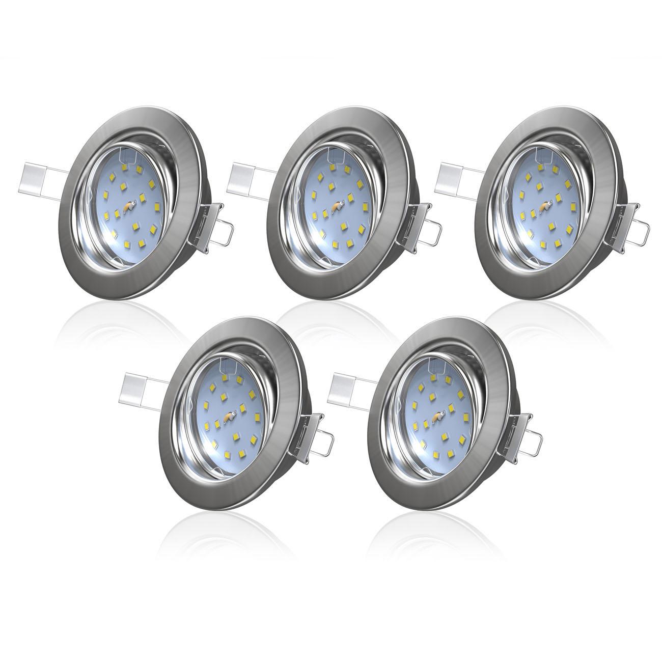 LED Einbaustrahler   Einbauleuchte 5er SET   5W schwenkbar - 3