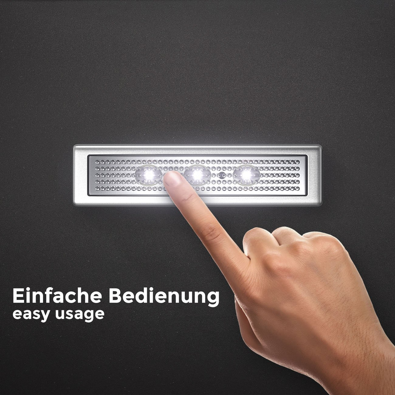 LED Push-Light mit Batteriebetrieb | 2er Set - 6