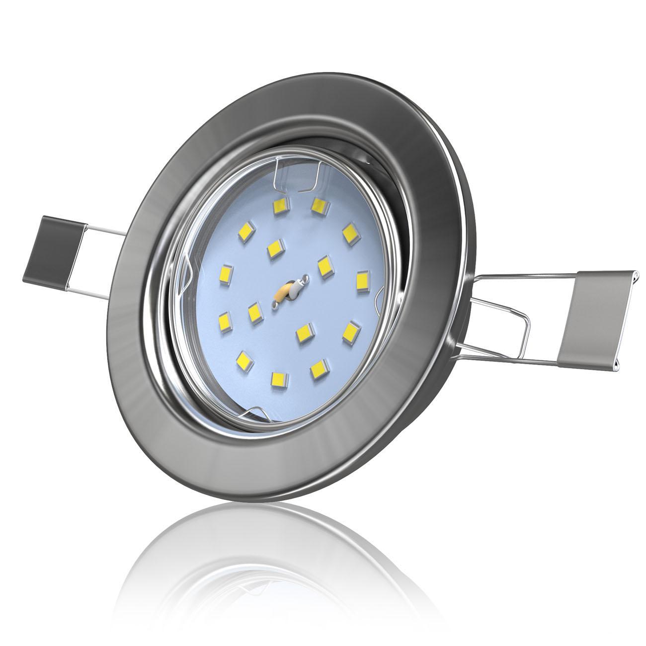LED Einbaustrahler   Einbauleuchte 5er SET   5W schwenkbar - 4