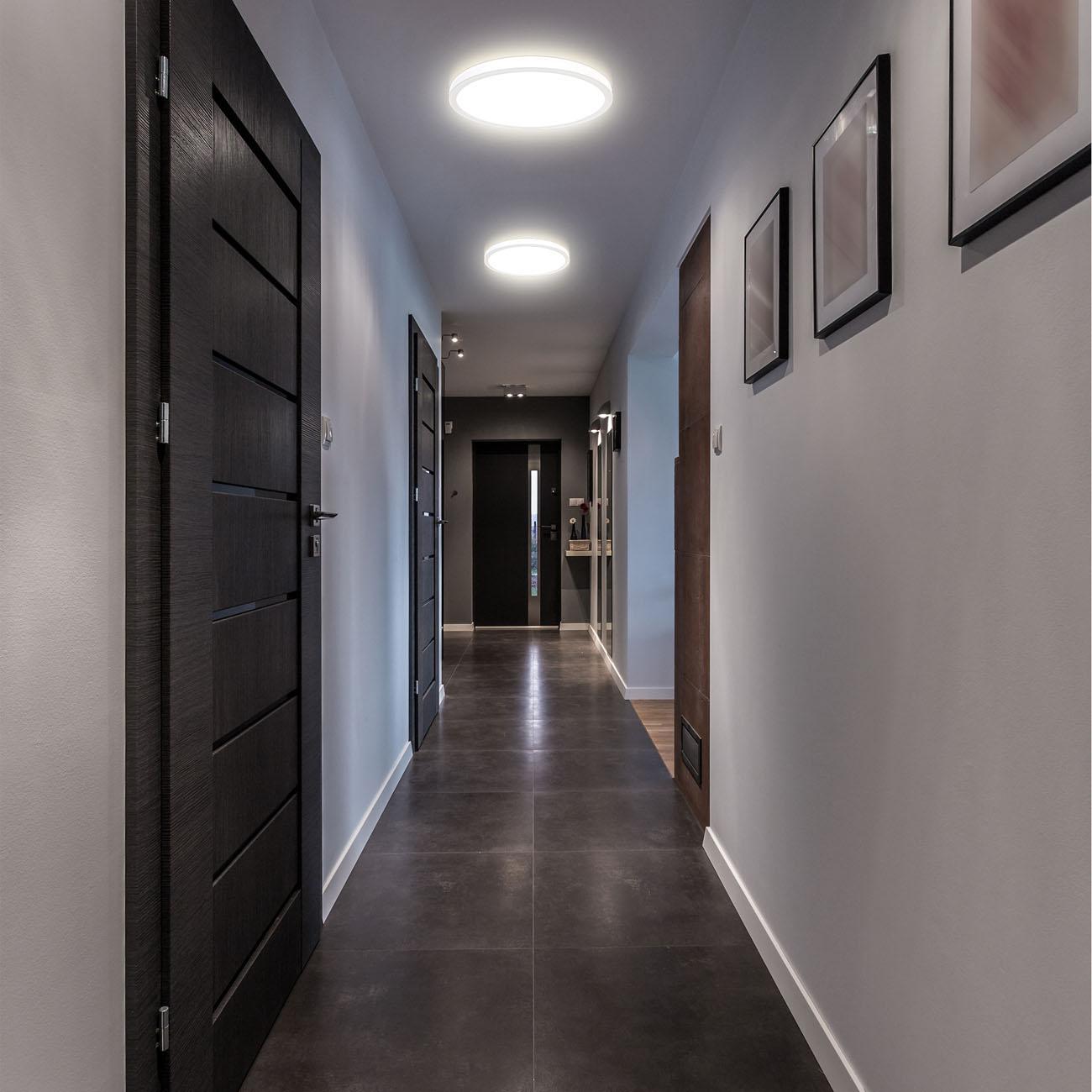 LED Panel mit Backlight-Effekt ultra-flach weiß rund  - 7