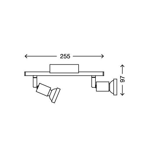 LED Deckenstrahler 2-flammig - 6