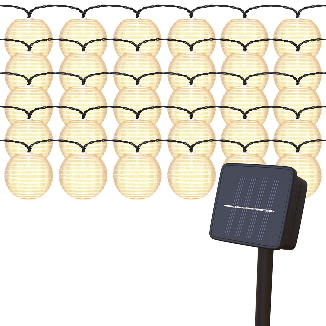 LED Außenlicherkette Solar Lampions 6m - 1