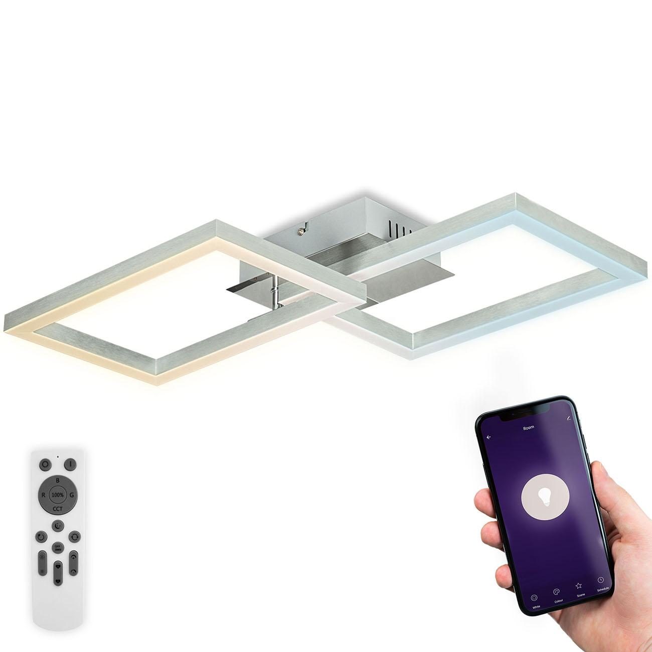 CCT RGB LED Frame Deckenleuchte schwenkbar 1-flammig mit Timer