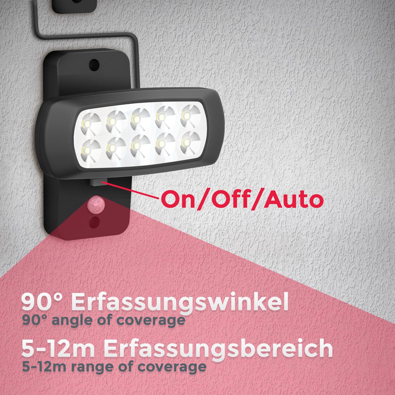 LED Außenleuchte mit Sensor Solar schwarz - 4