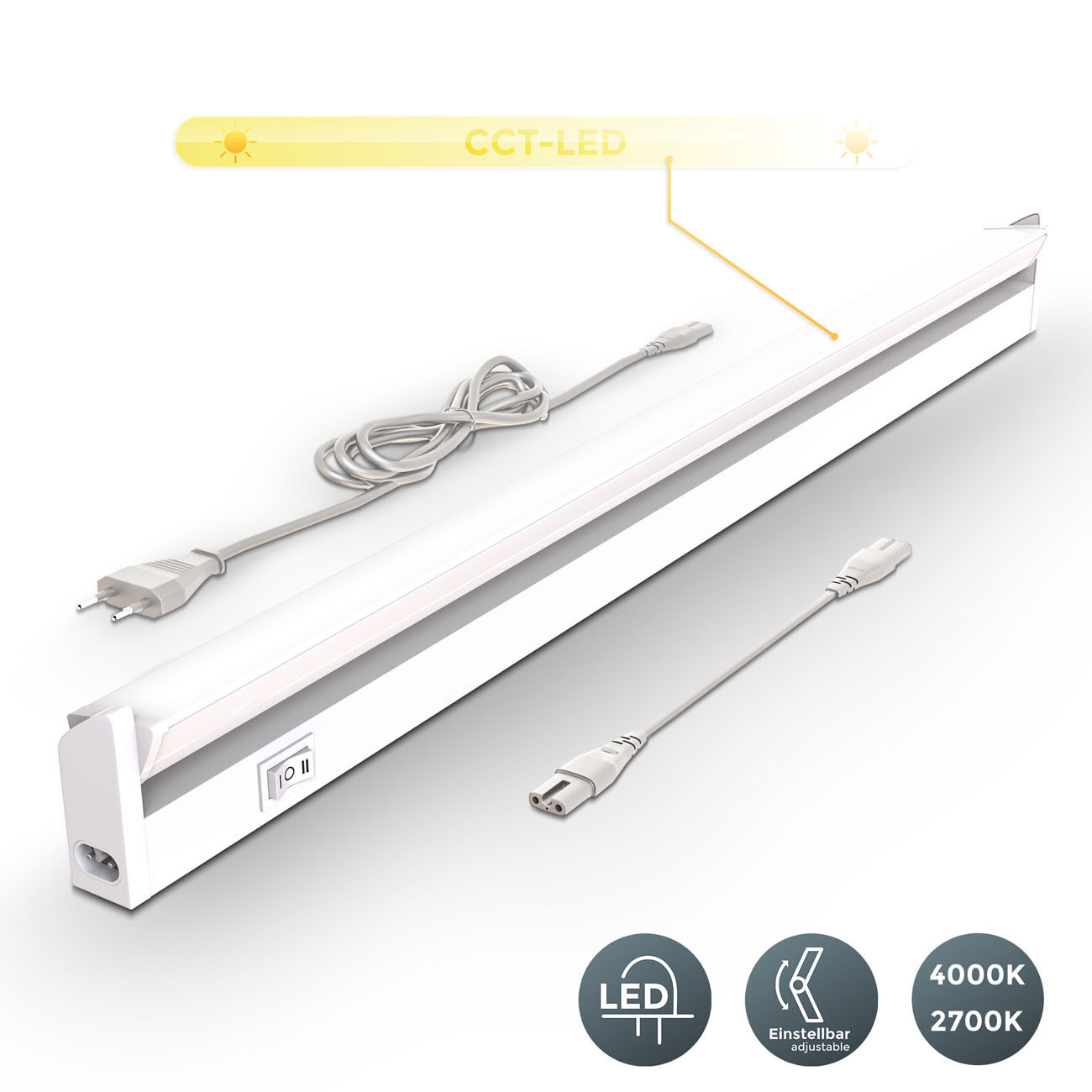 LED CCT Lichtleiste Unterschrankleuchte weiß - 3