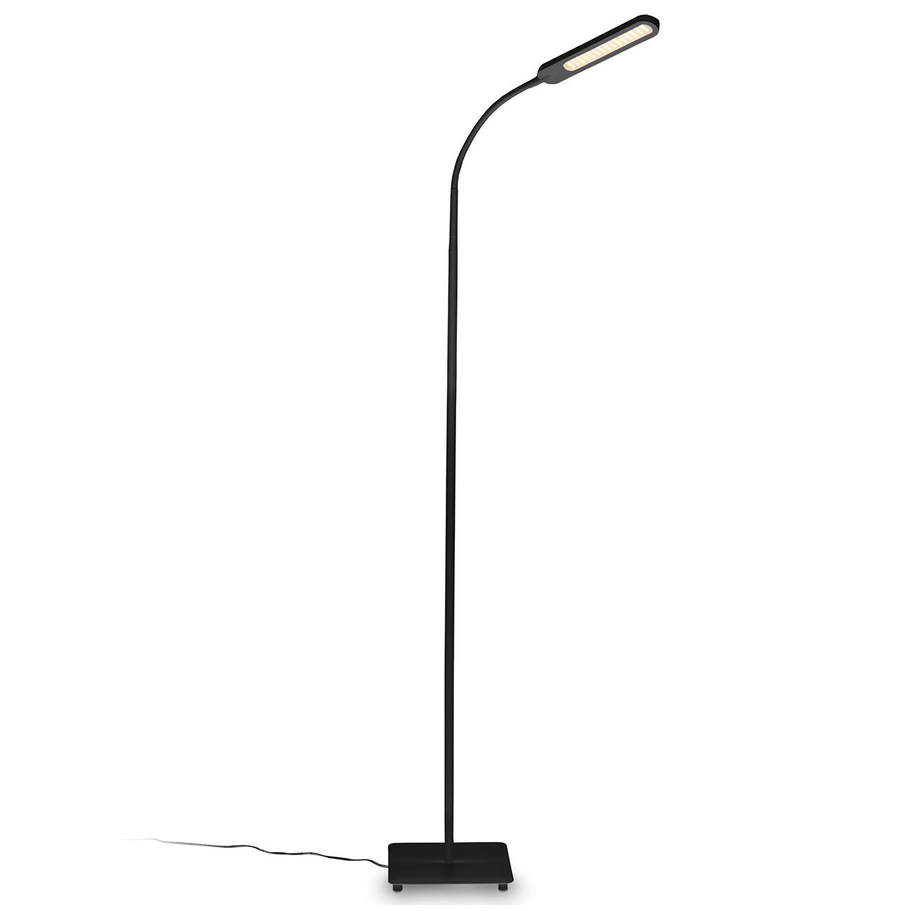 LED Stehleuchte dimmbar schwenkbar matt-schwarz