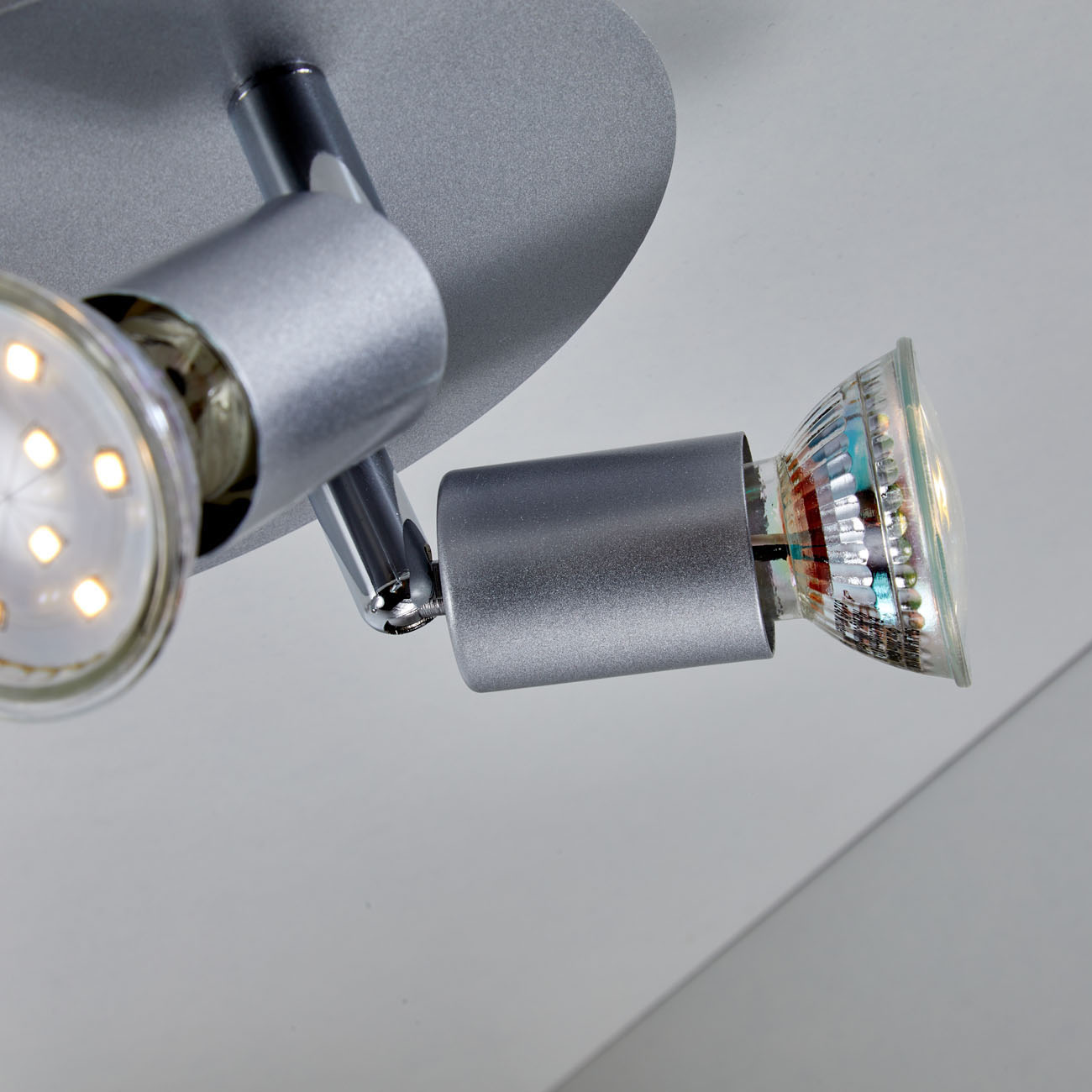 LED Deckenstrahler Deckenspot 3-flammig matt-nickel - 4