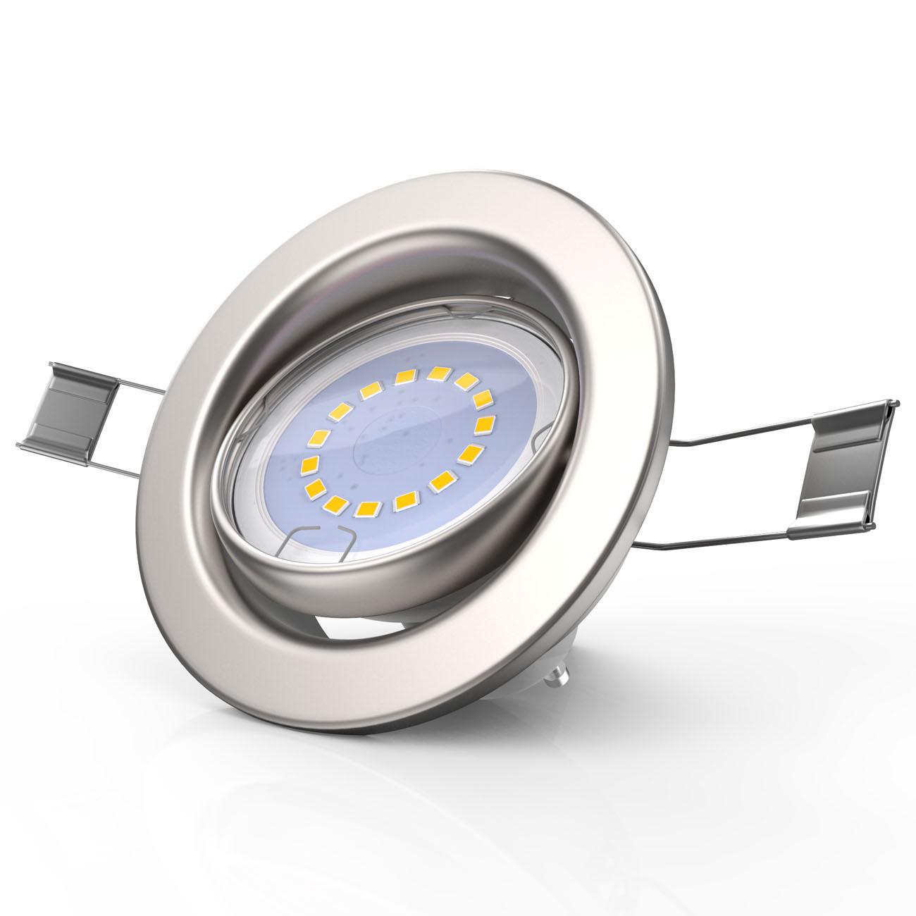 LED Einbaustrahler | Einbauleuchte 5er SET | 5W inkl.GU10 Stufendimmer Schwenkbar - 5