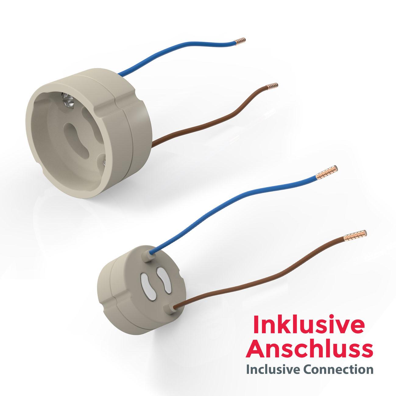 LED Einbaustrahler | Einbauleuchte 5er SET | 5W inkl.GU10 Stufendimmer Schwenkbar - 7