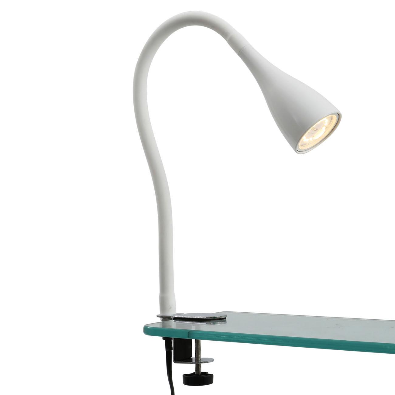 LED Klemmleuchte schwenkbar weiß GU10 - 9