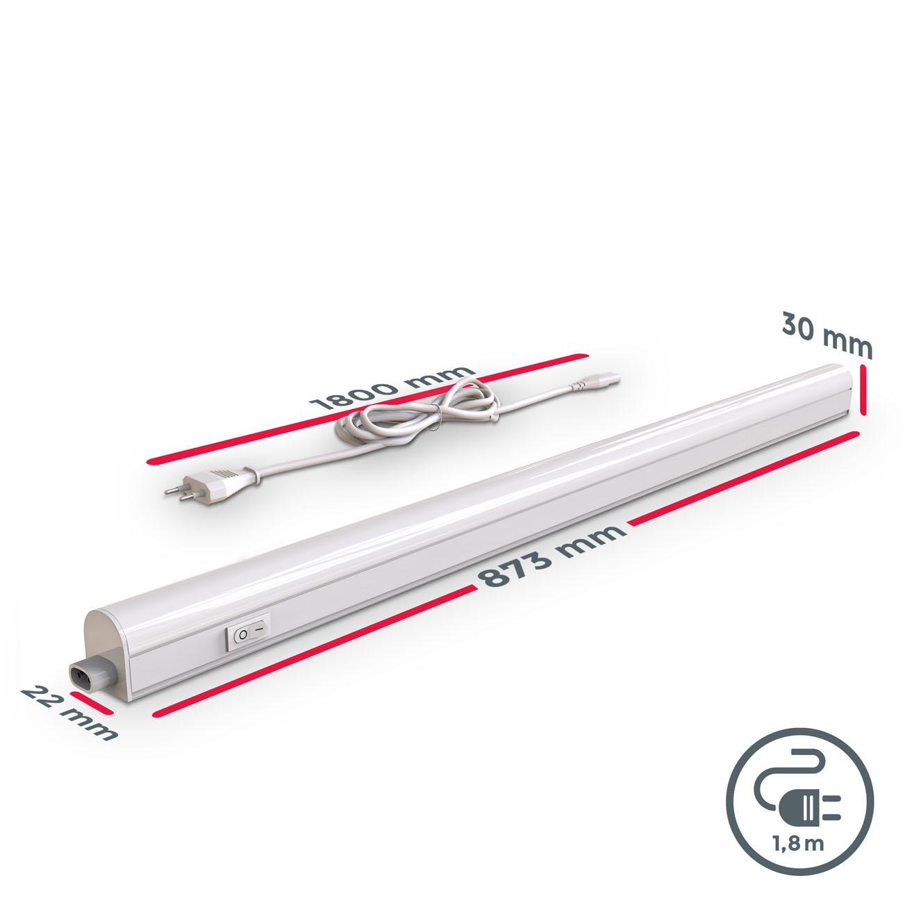 LED Unterbauleuchte mit Verbindungskabel weiß L - 7
