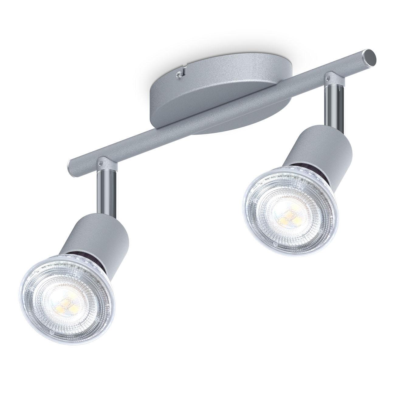 LED Deckenstrahler Spotleucht 2-flammig GU10 titan
