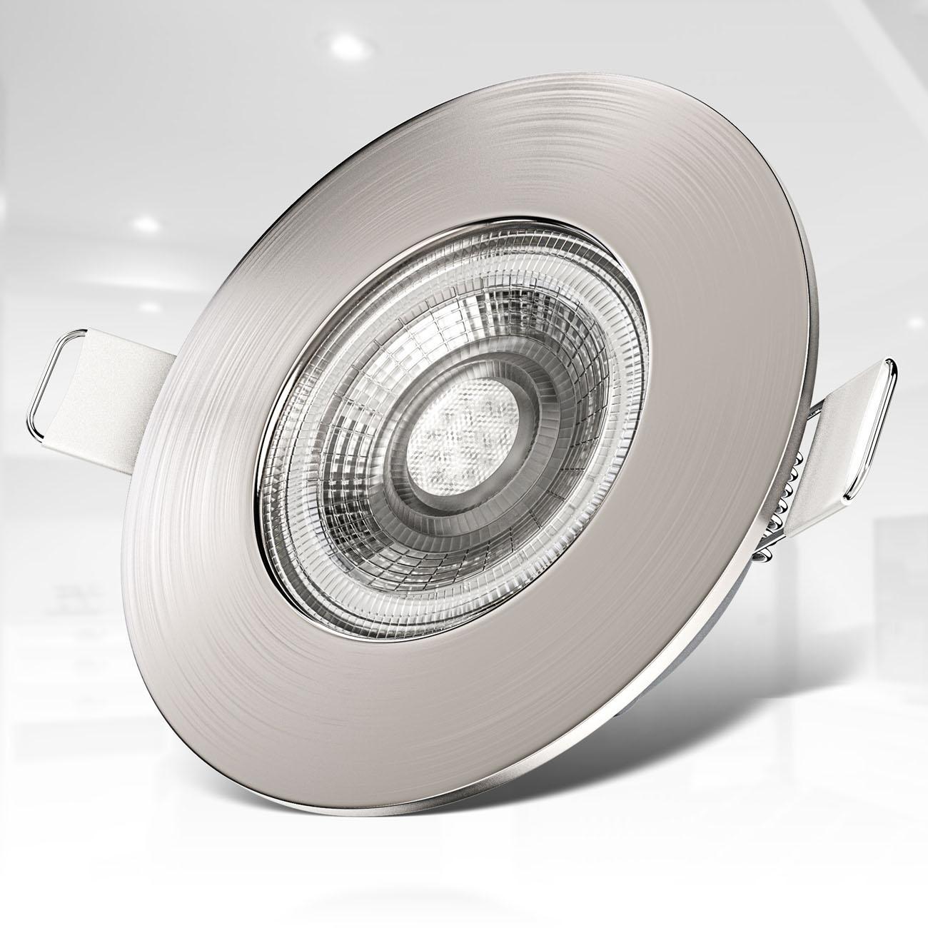 LED Einbaustrahler   Bad Einbauleuchte 6er SET   ultra flach 5W IP44 - 4