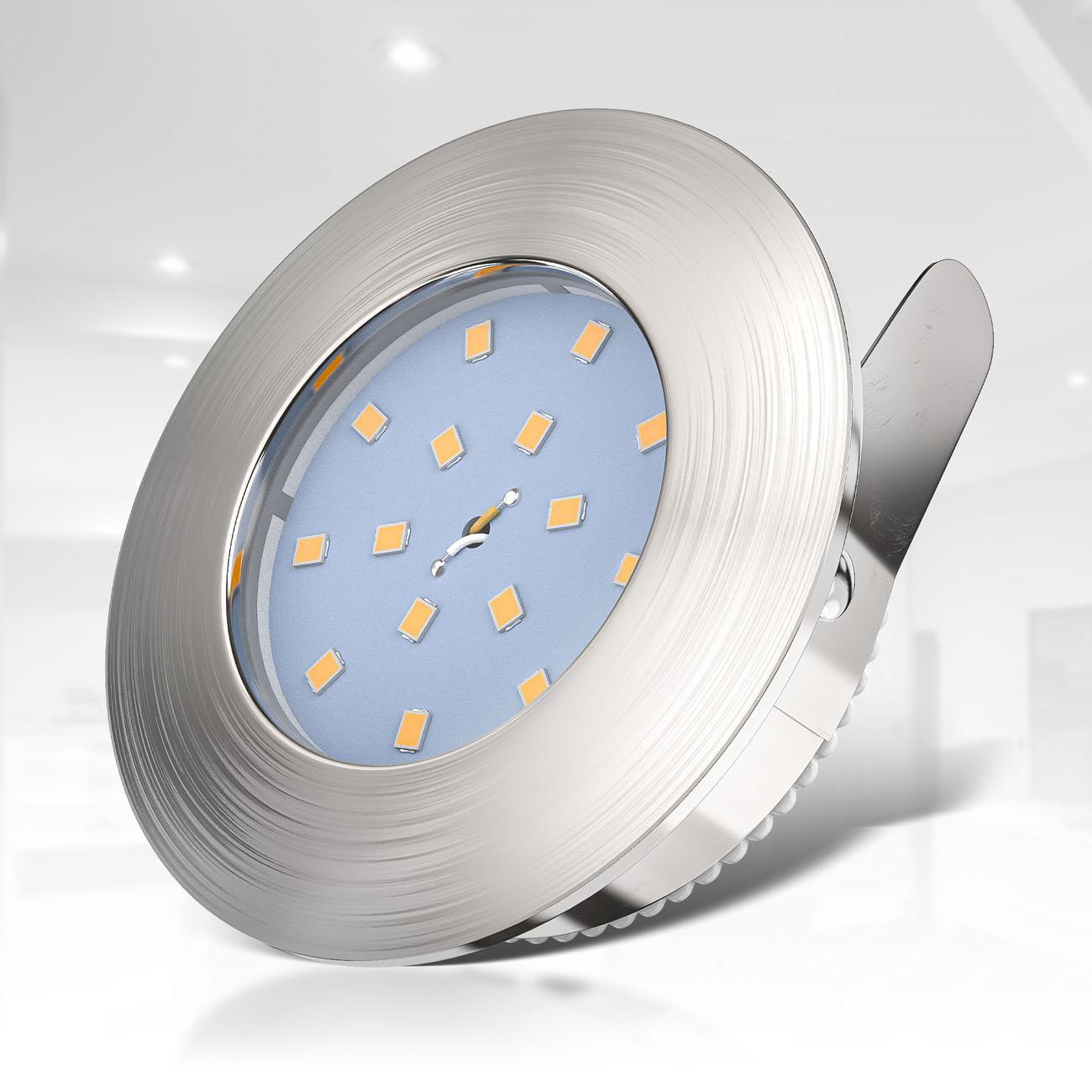 LED Einbaustrahler   Bad Einbauleuchte 5er SET   ultra flach 5W IP44 dimmbar - 4