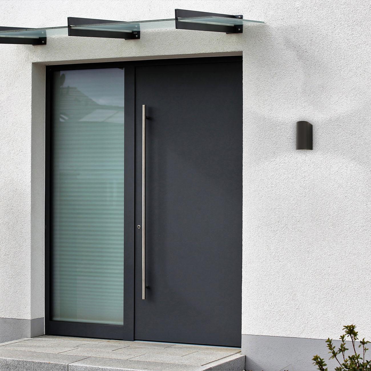 Wandleuchte für Innen und Außen schwarz GU10 - 9