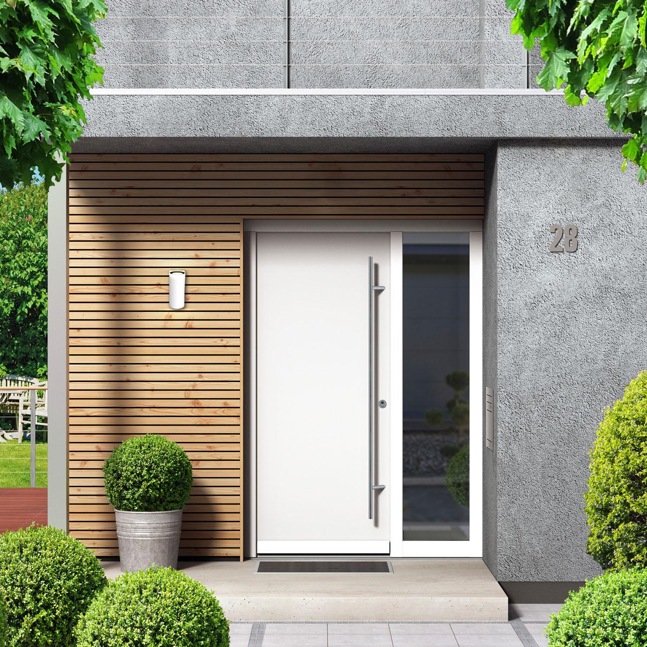 Wandleuchte für Innen und Außen weiß GU10 - 9