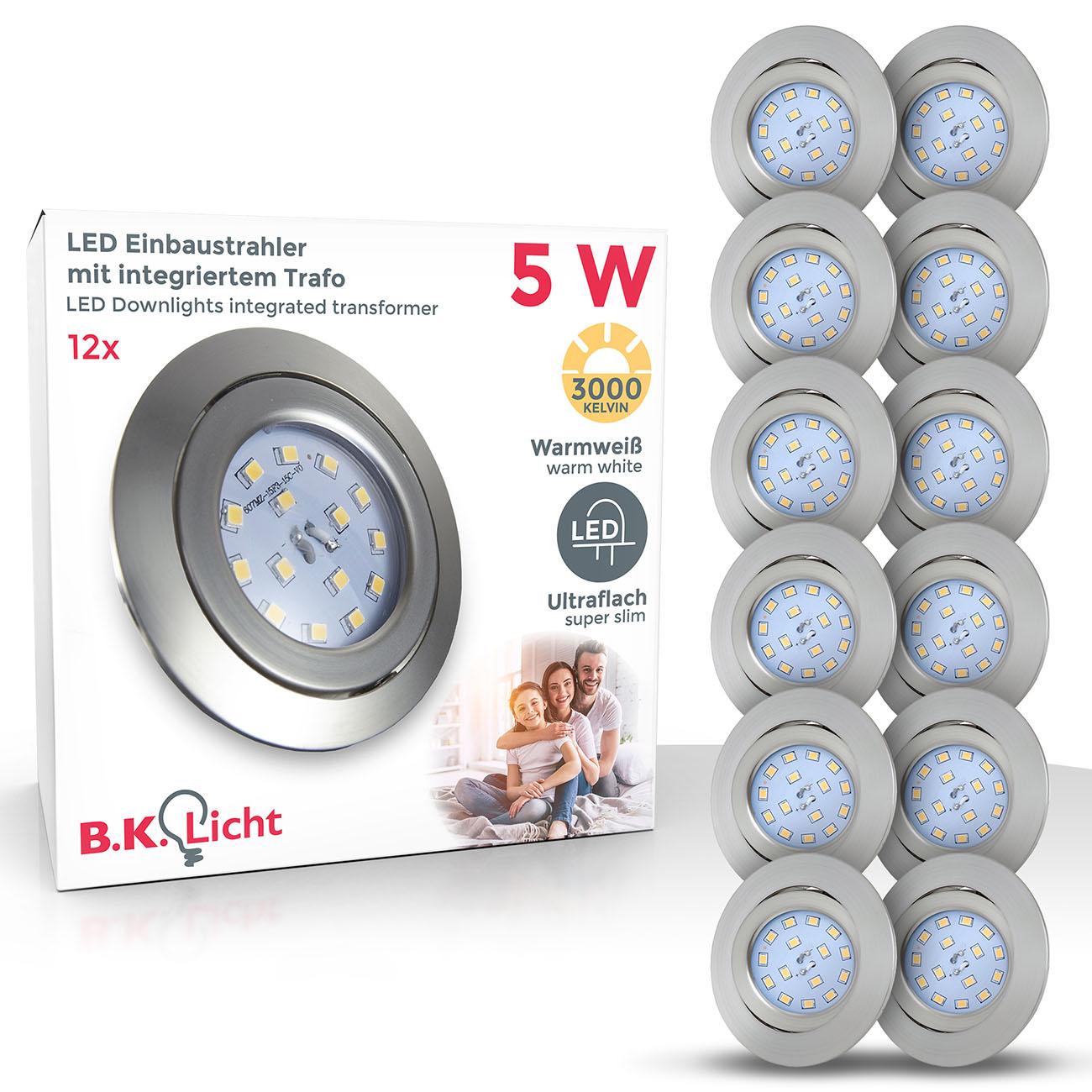 LED Einbaustrahler | Einbauleuchte 12er SET | schwenkbar 5W ultraflach