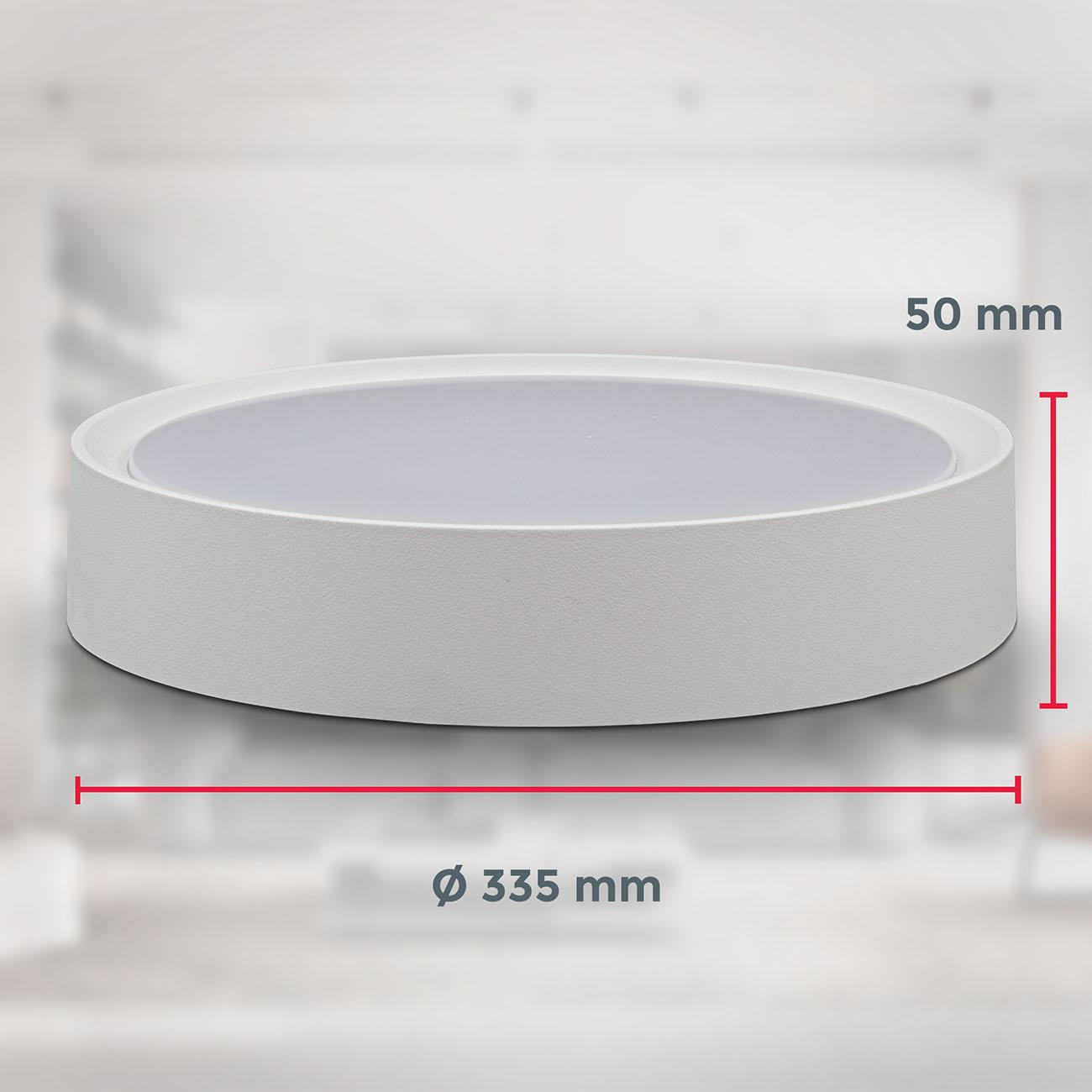 LED Deckenlampe neutralweiß rund  - 8
