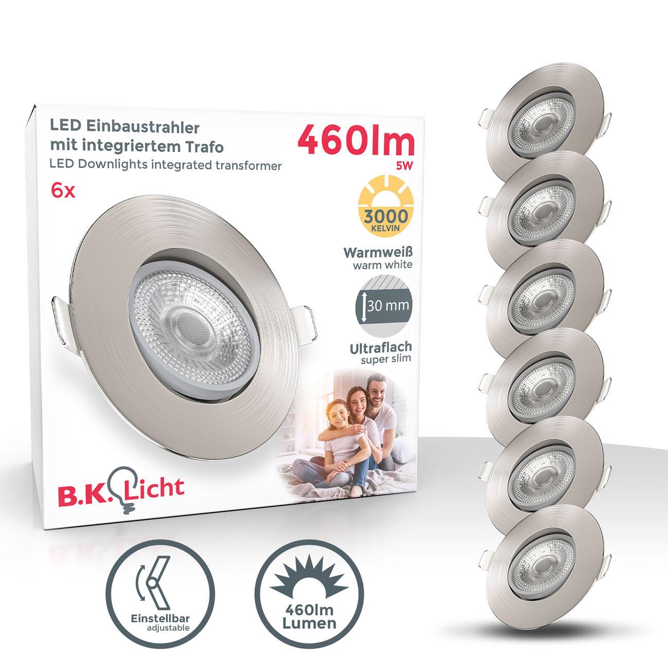 LED Einbaustrahler | Einbauleuchte 6er SET | ultra flach 5W schwenkbar