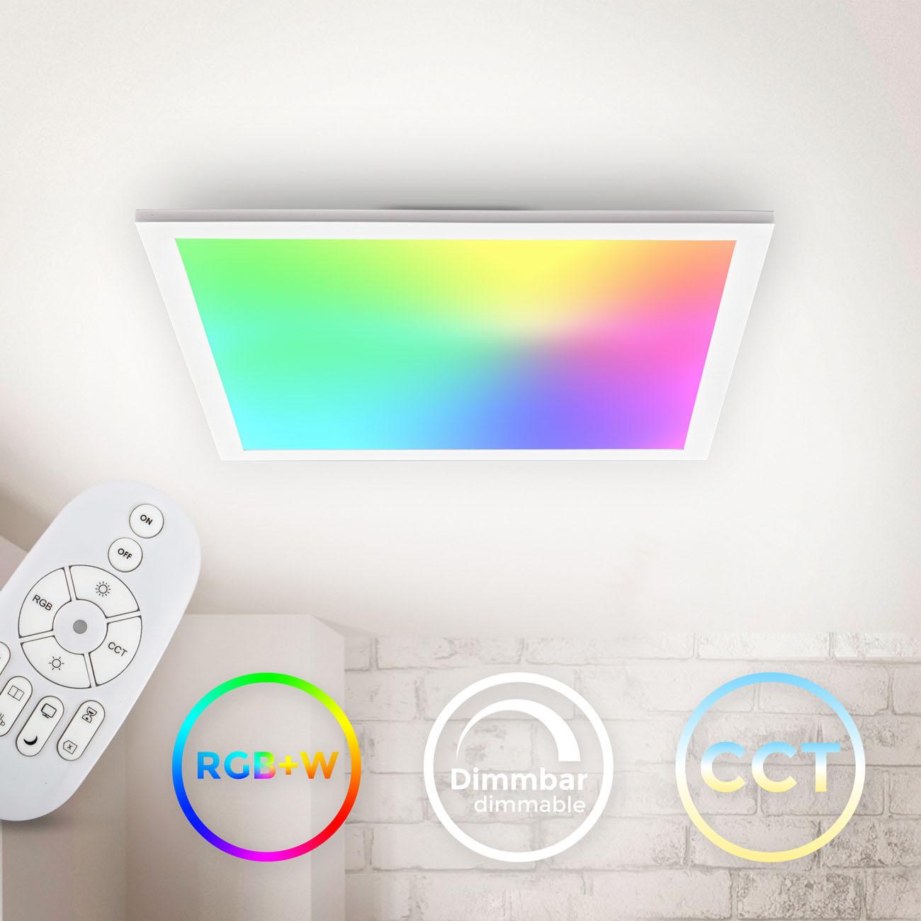 CCT RGB LED Panel Deckenleuchte dimmbar quadratisch - 3