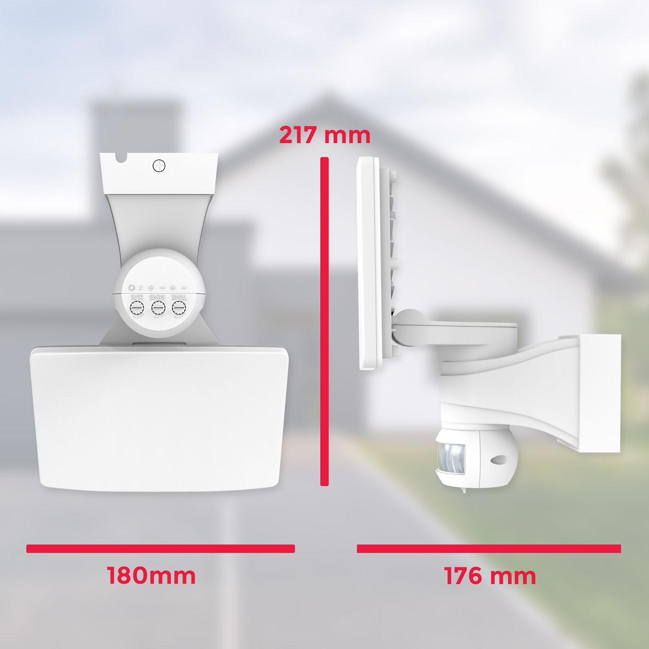 LED Außenleuchte mit Bewegungssensor weiß - 6