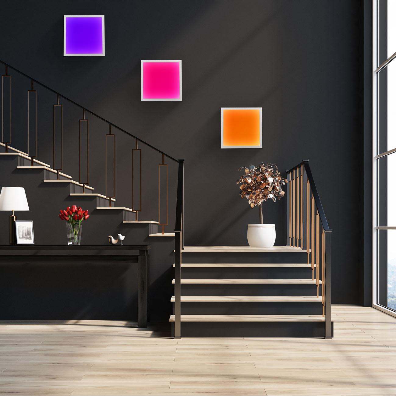 CCT RGB LED Panel Deckenleuchte dimmbar quadratisch - 5