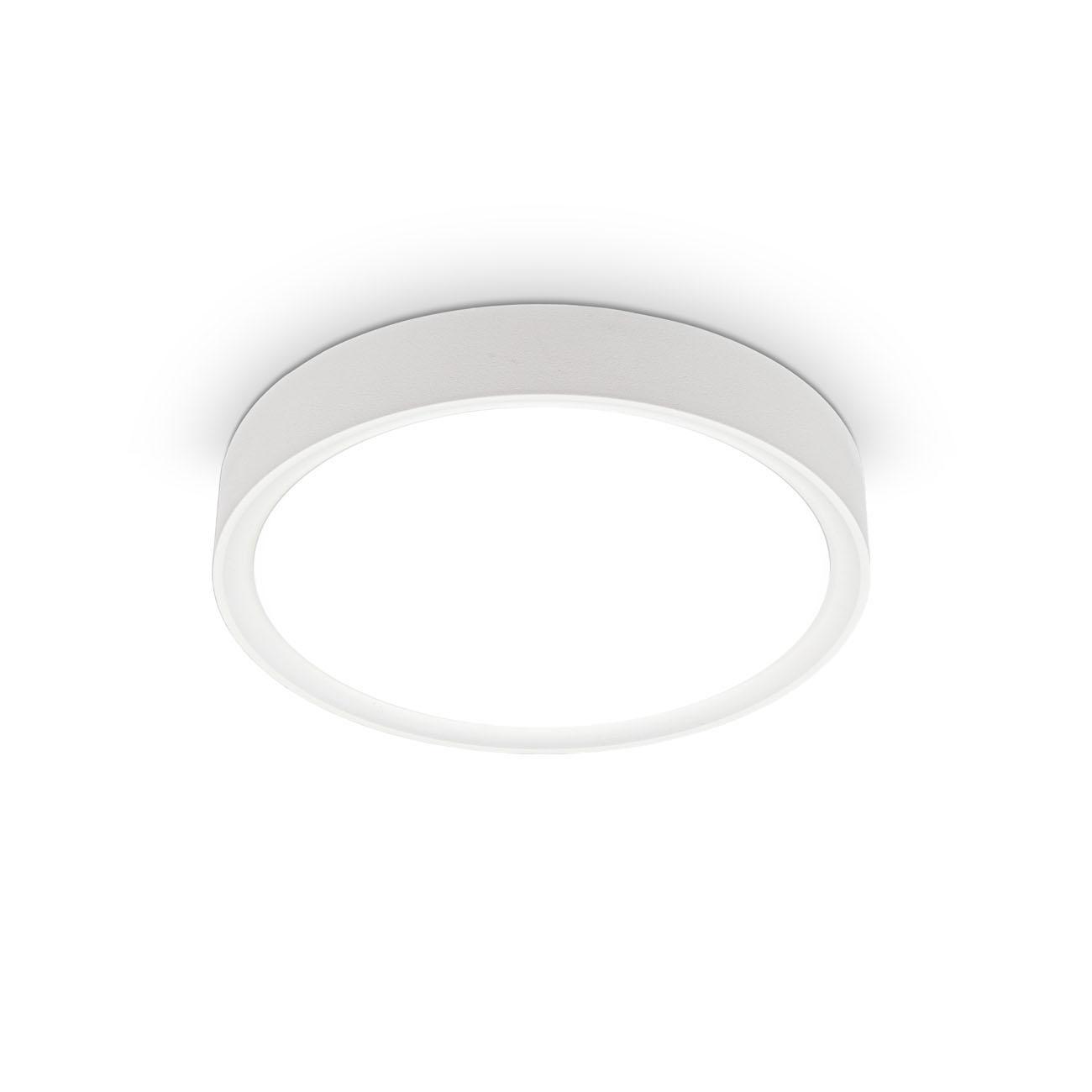 LED Deckenleuchte mit Sternendekor Ø 25 cm weiß-matt - 1