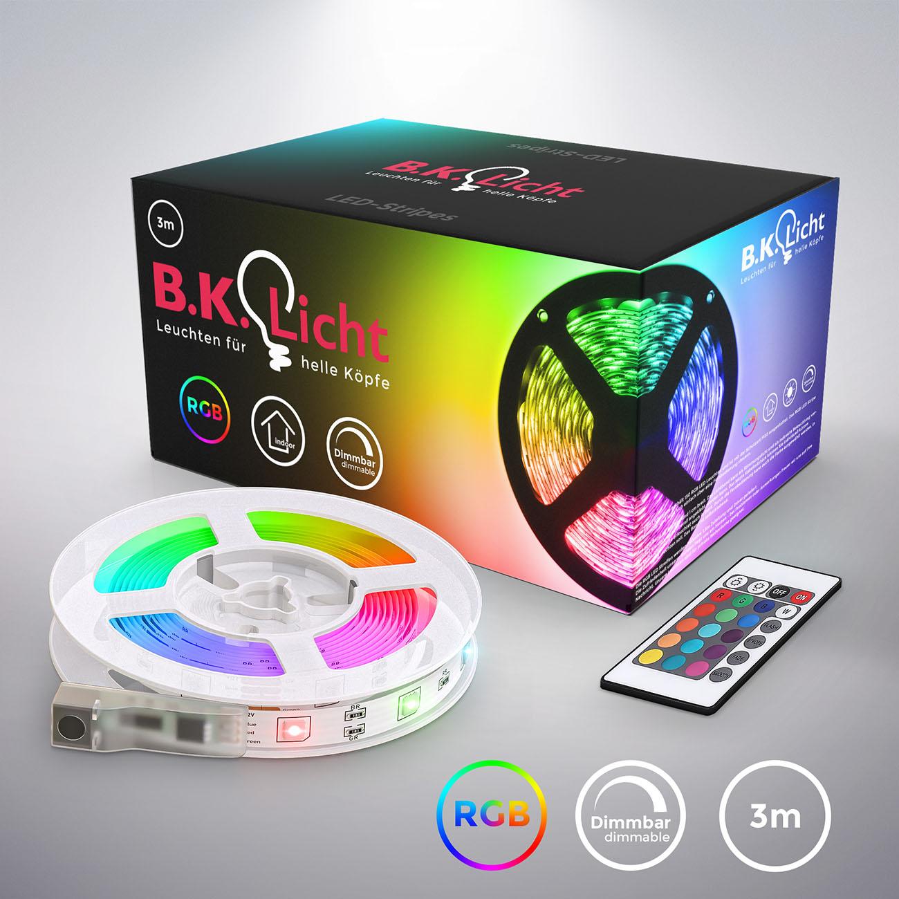 RGB LED Streifen mit Farbwechsel 3m - 3