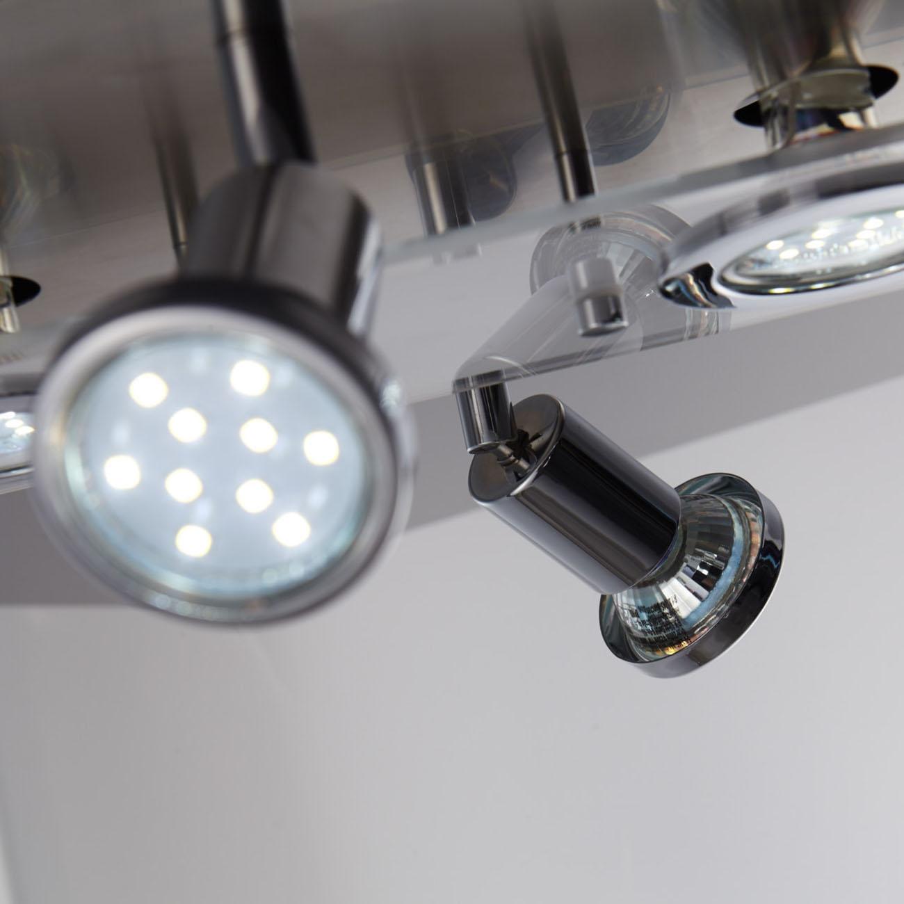 LED Kombi Deckenleuchte Spotleuchte 4-flammig rund - 7