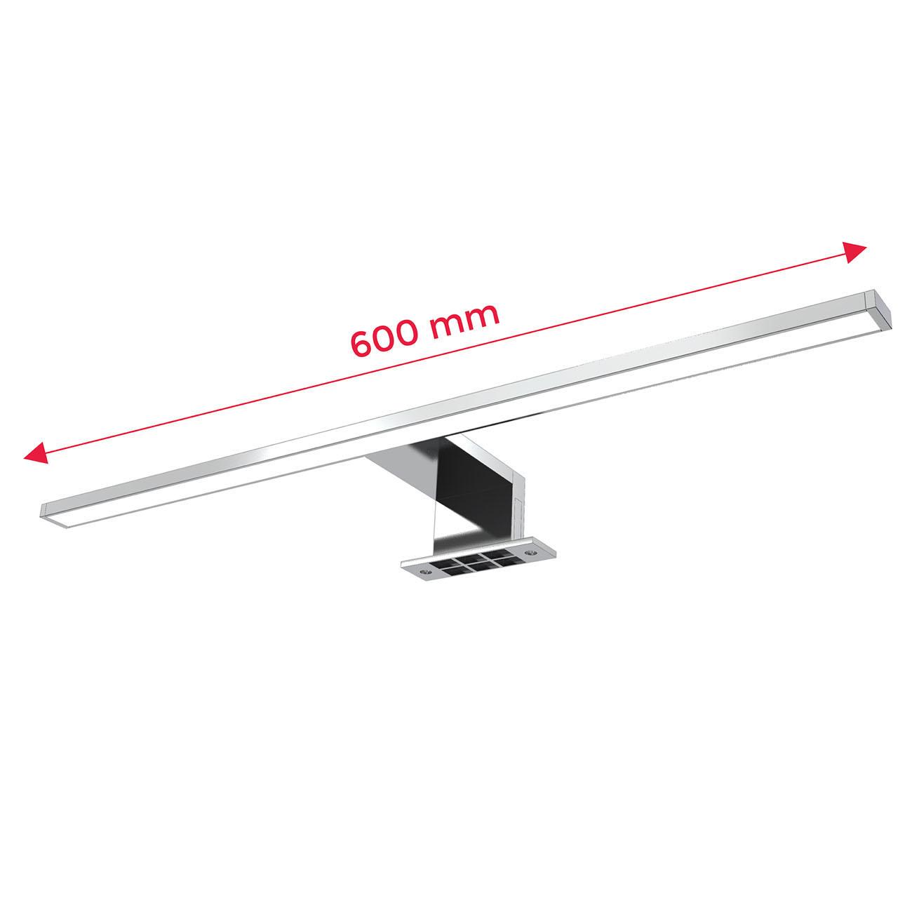 LED Spiegelleuchte Badlampe IP44 neutral-weiß M chrom - 5