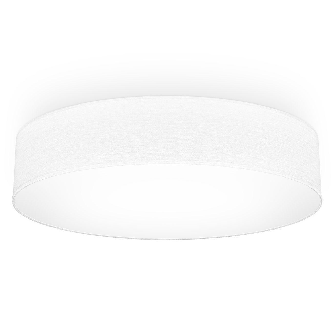 LED  Deckenleuchte mit Stoffschirm weiß