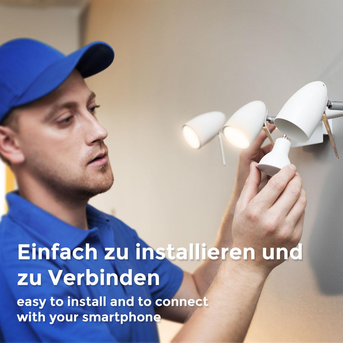 WiFi LED Leuchtmittel GU10 | 4er Set - 7