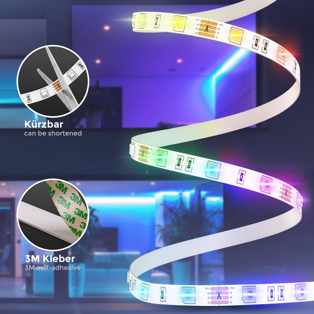 RGB LED Streifen mit Farbwechsel 3m - 5
