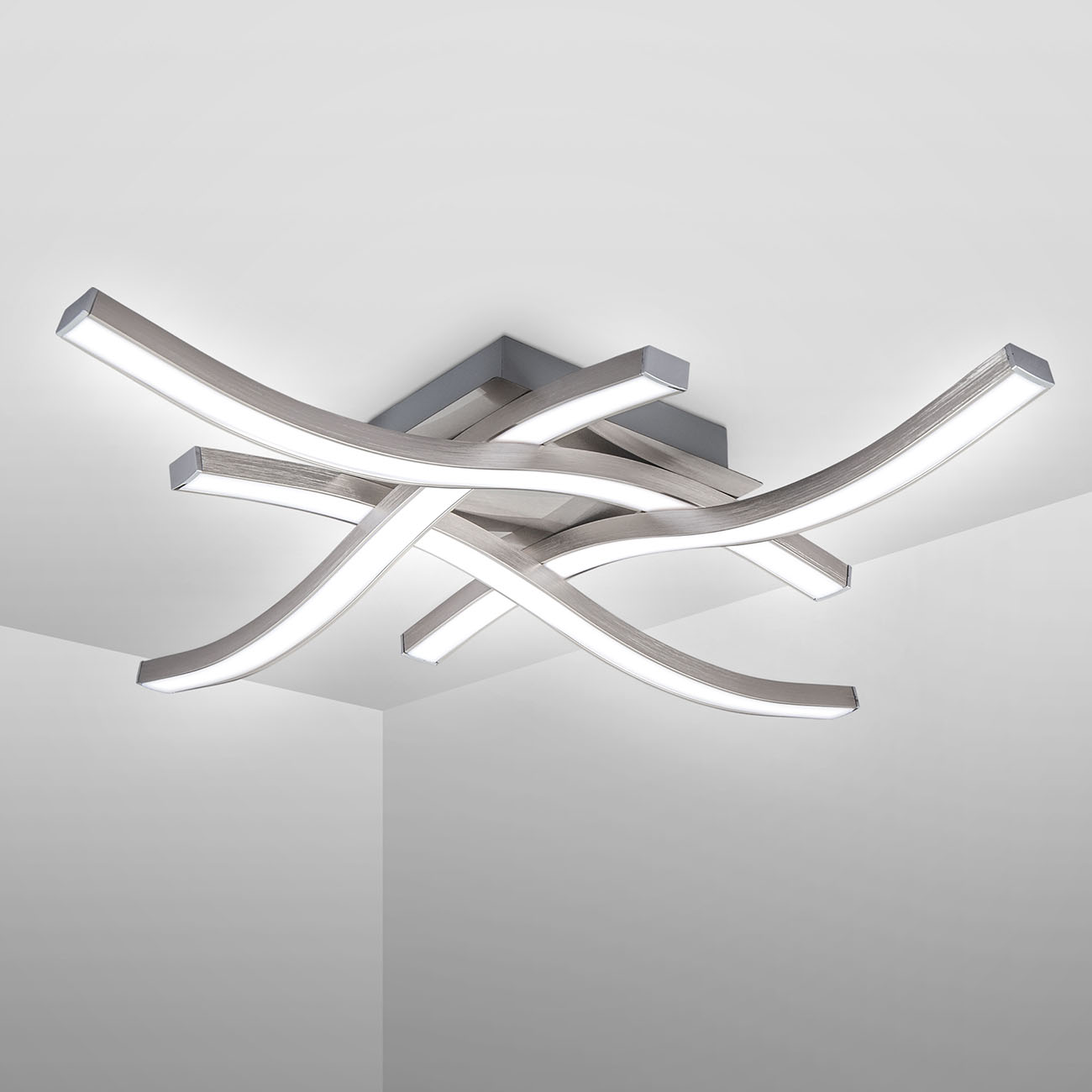 LED Deckenleuchte 4-flammig in Wellenform - 3