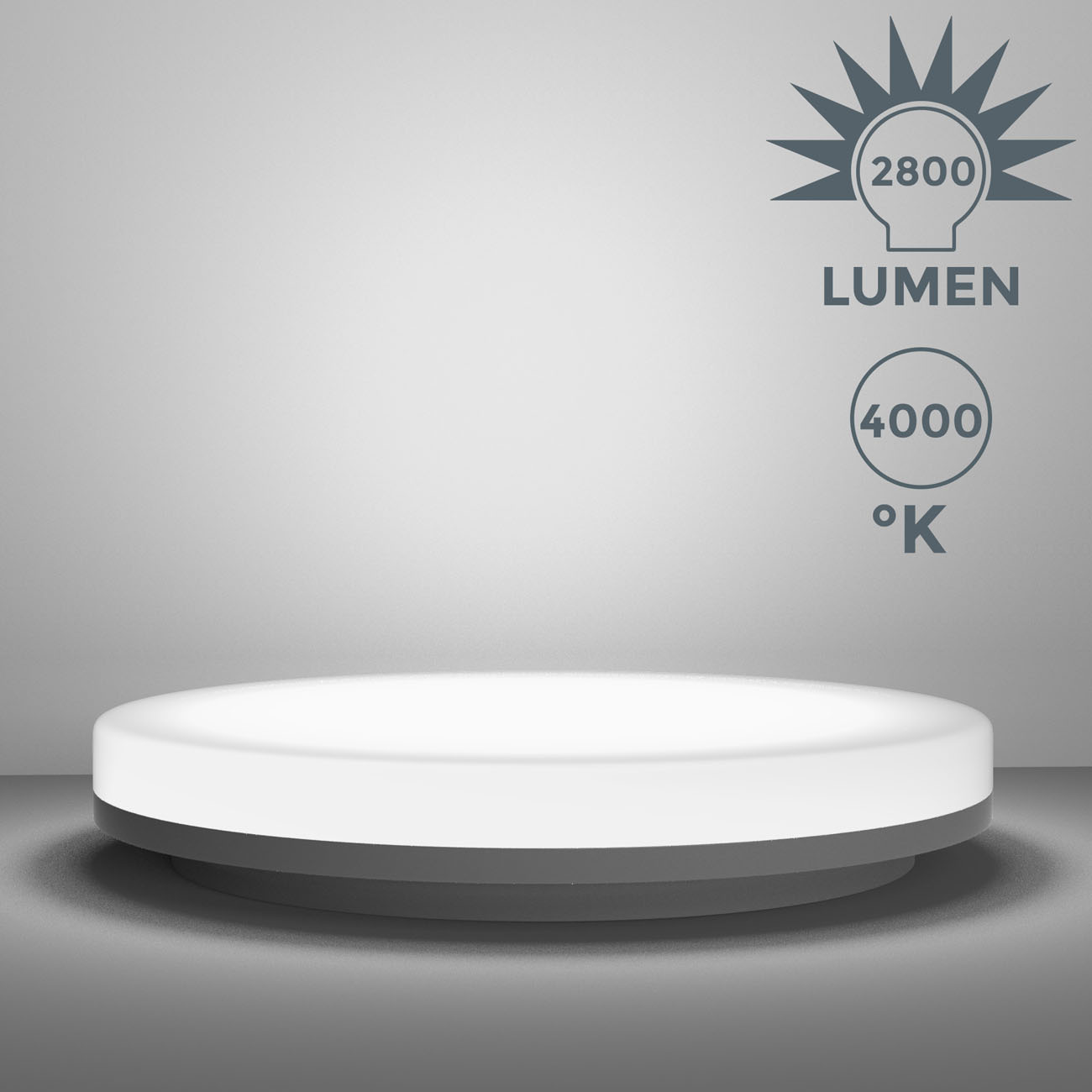 LED Deckenleuchte Badlampe IP54 L - 4