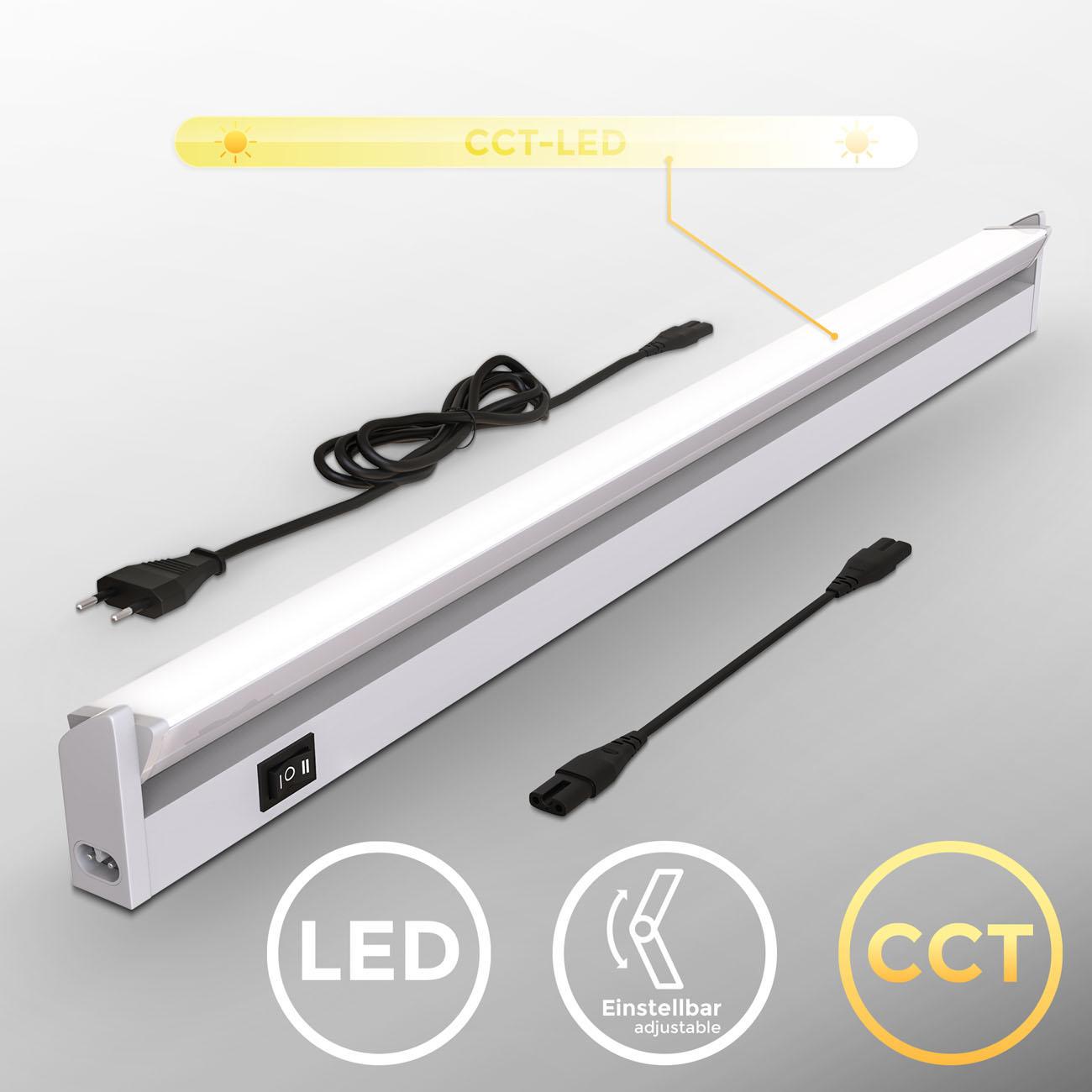 LED CCT Lichtleiste Unterschrankleuchte silber - 3