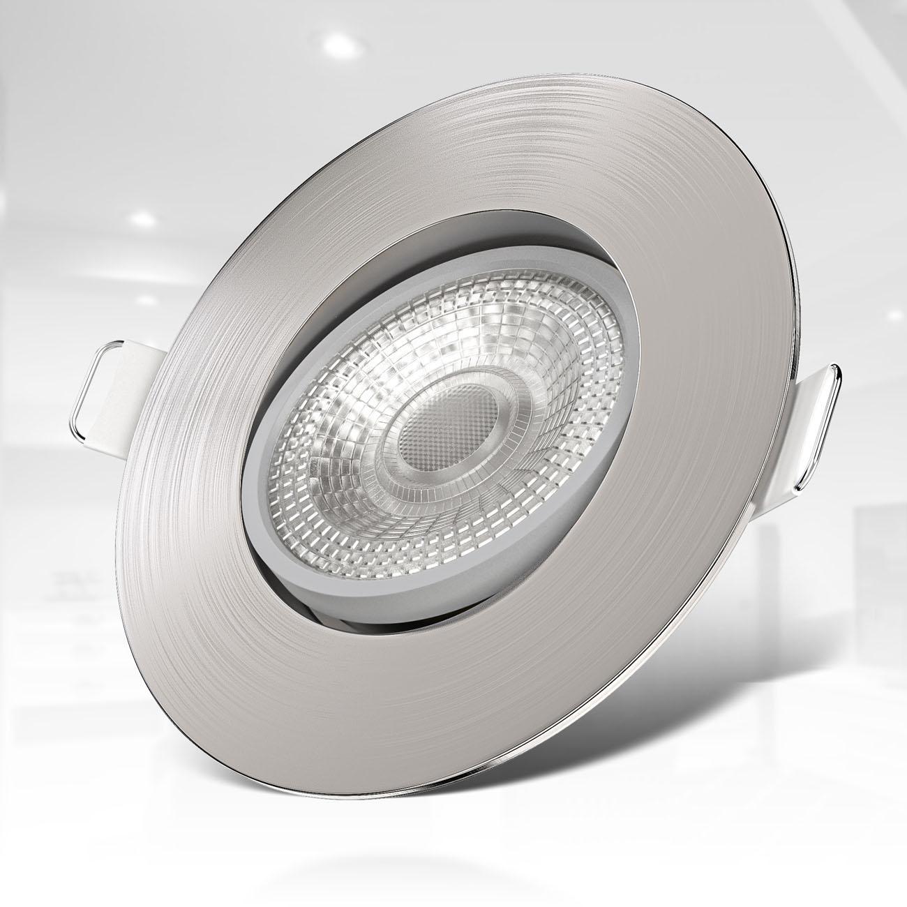 LED Einbaustrahler   Einbauleuchte 6er SET   ultra flach 5W schwenkbar dimmbar - 4