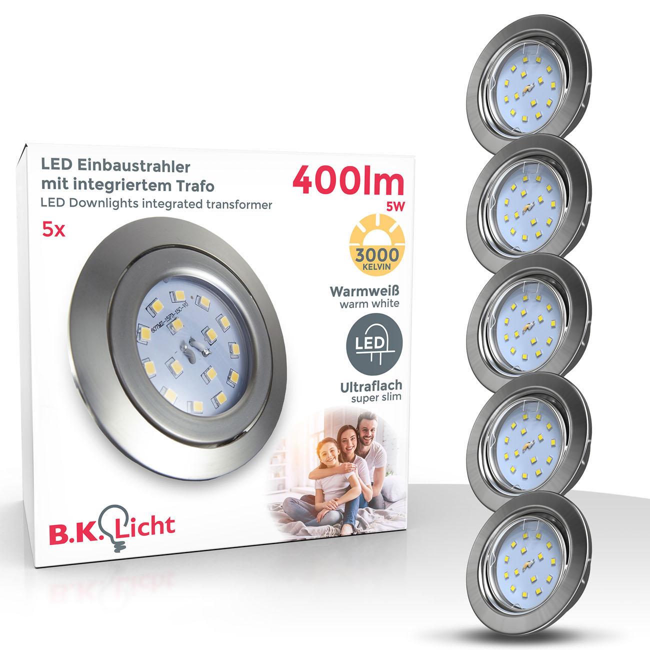 LED Einbaustrahler | Einbauleuchte 5er SET | 5W schwenkbar