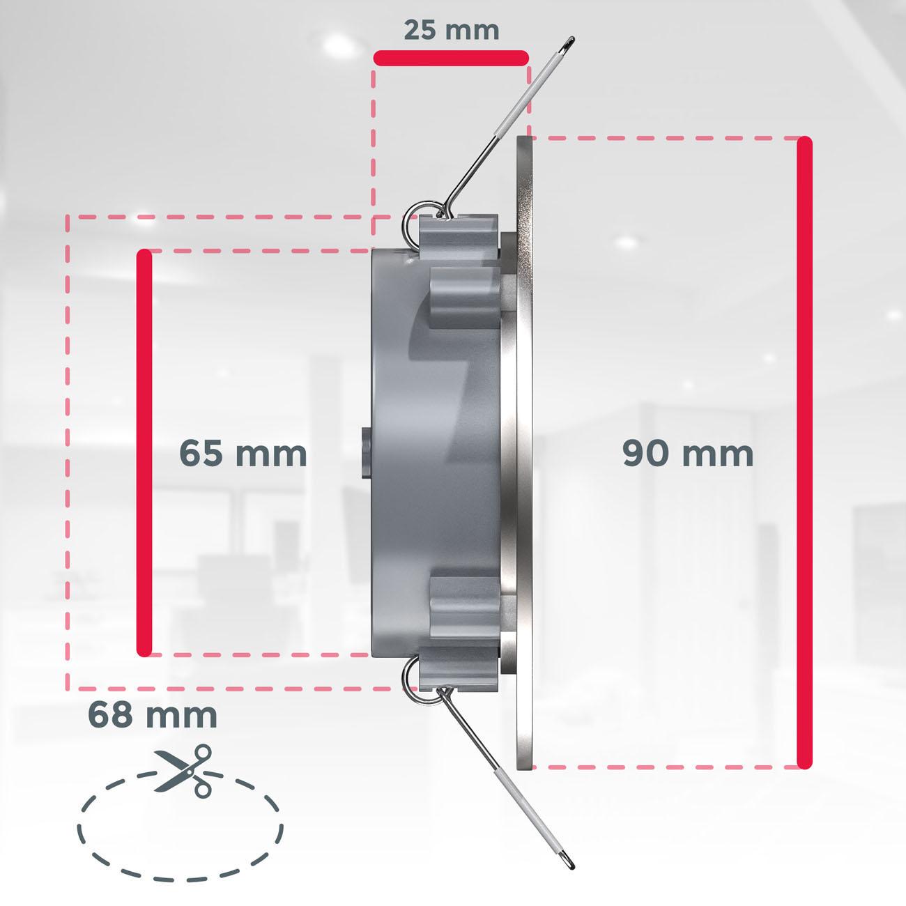 LED Einbaustrahler   Bad Einbauleuchte 6er SET   ultra flach 5W IP44 dimmbar - 7