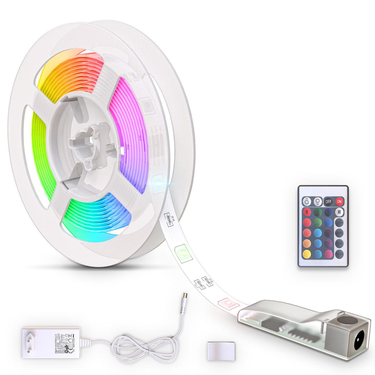 RGB LED Streifen mit Farbwechsel silikonbeschichtet 3m - 1