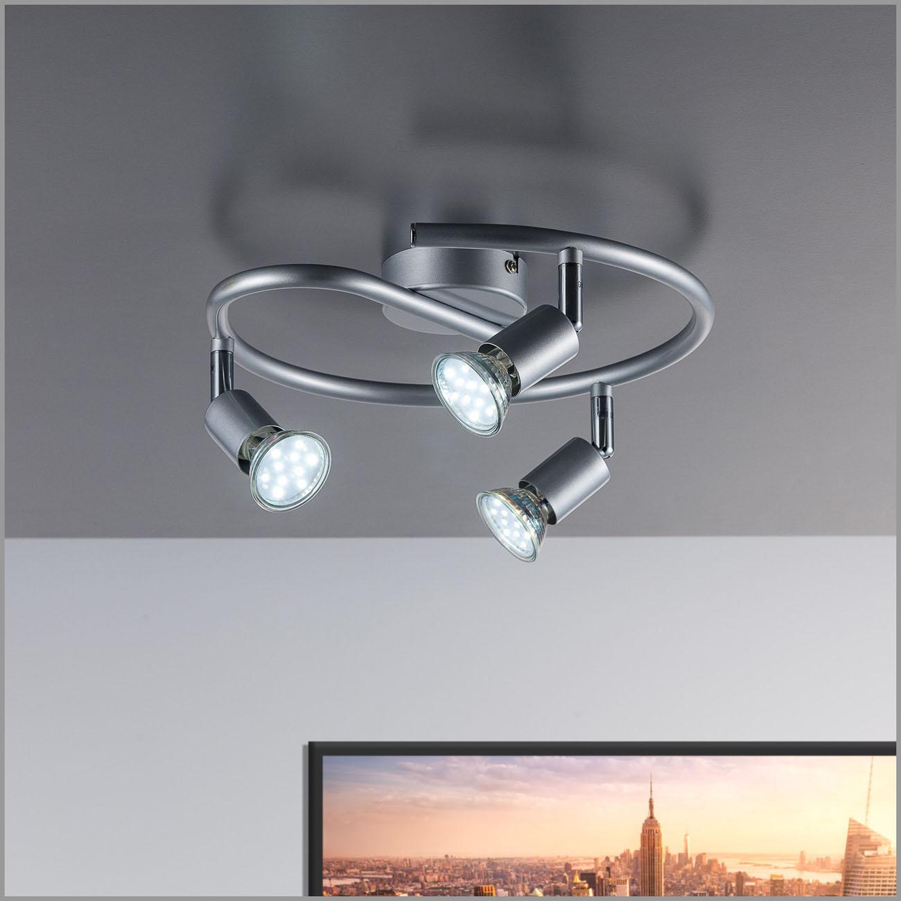 LED Deckenstrahler Deckenspot 3-flammig rund - 2